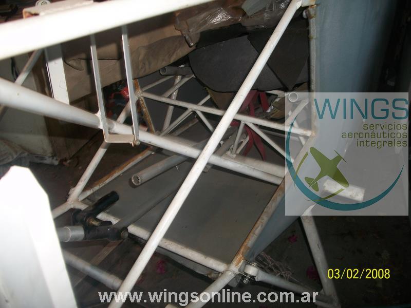 Fuselaje y grupo de cola de Biplano